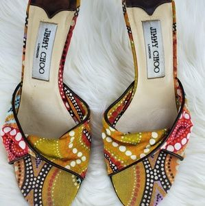 Jimmy Choo Hemma slide sandal multi color size 5.5